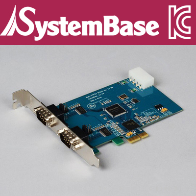 SystemBase(시스템베이스) 2포트 RS-232 PCI Express 시리얼 카드 / Multi-2/PCIe RS232