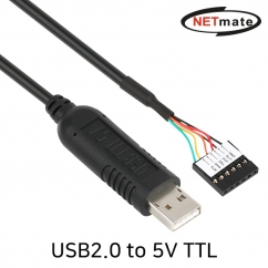 NETmate KW-995 USB2.0 to 5V TTL(Housing) 컨버터(FTDI / 1.8m)